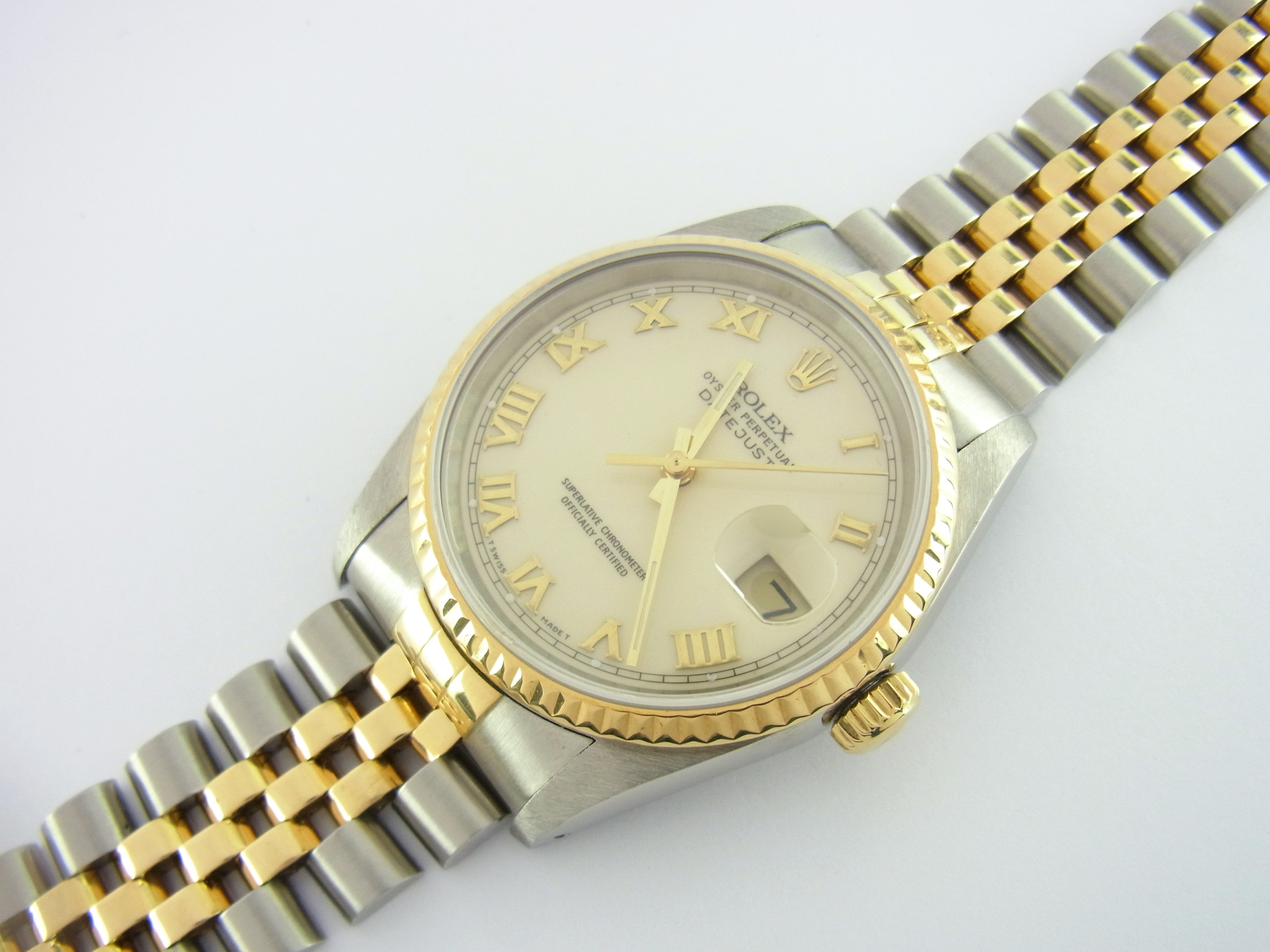 rolex datejust 36 mm ref 16233 stahl gold jubil eband. Black Bedroom Furniture Sets. Home Design Ideas