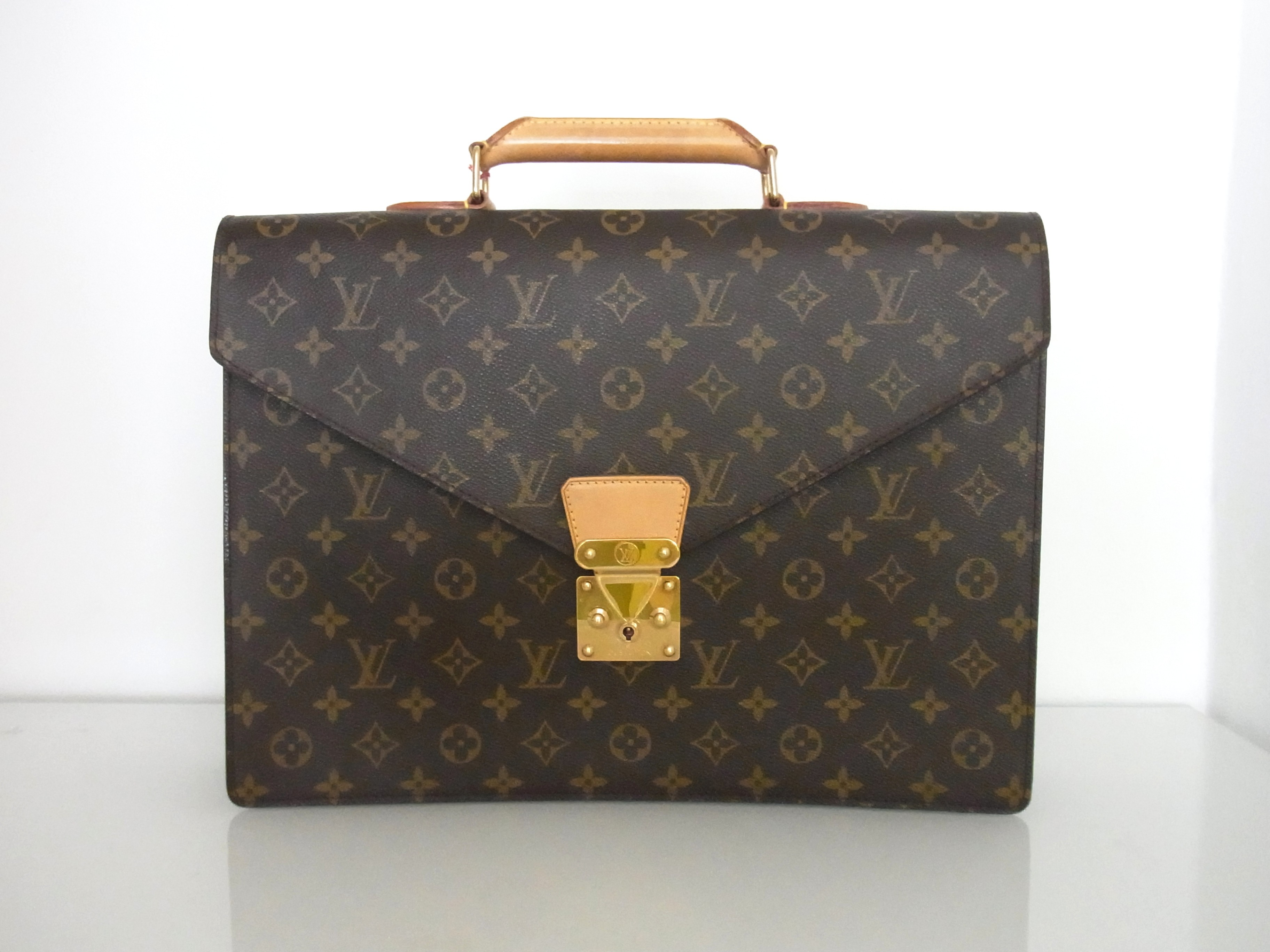 louis vuitton aktentasche monogram canvas luxini hamburg luxus uhren schmuck service. Black Bedroom Furniture Sets. Home Design Ideas