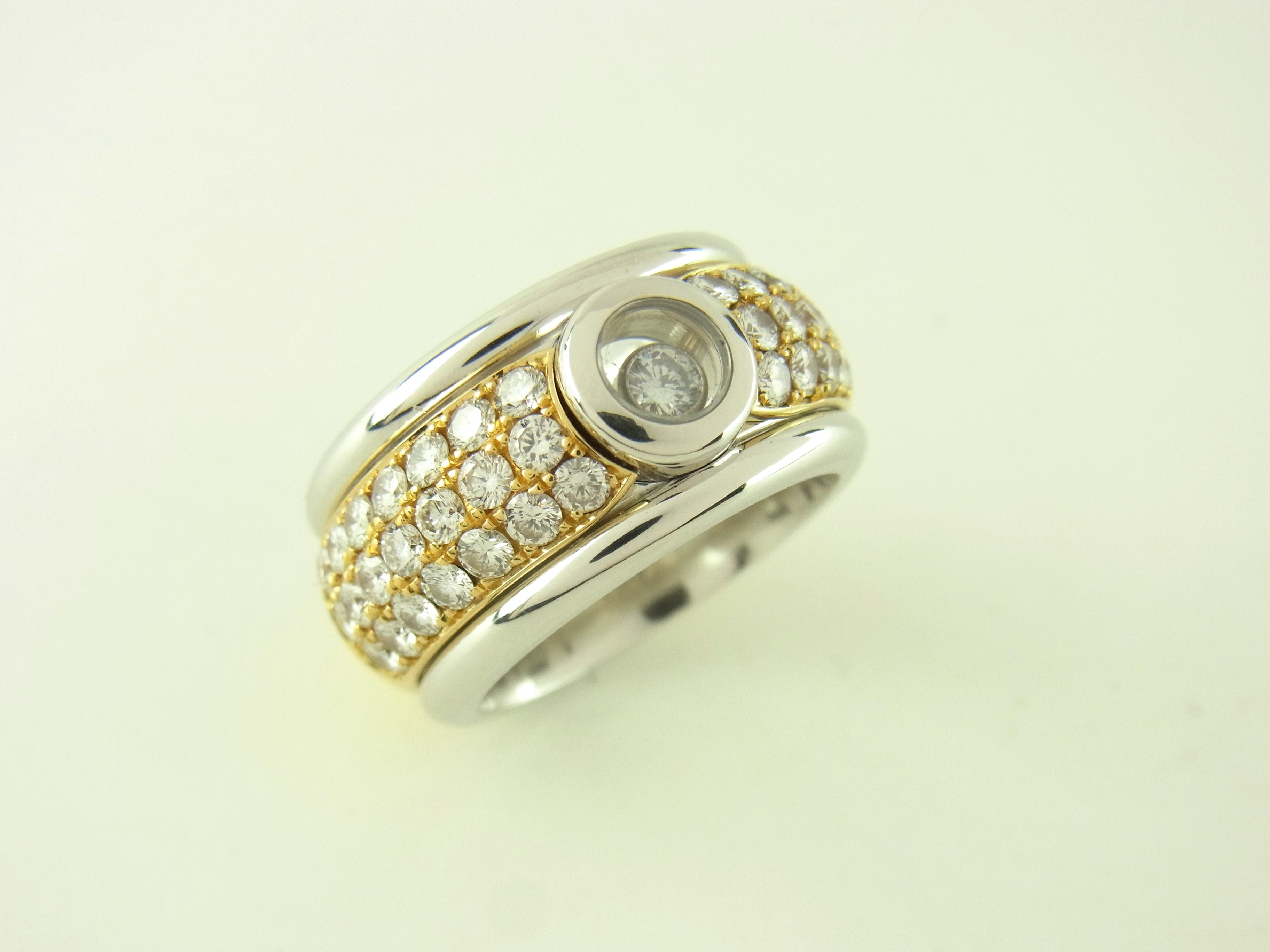 Diamantring gold  Chopard Happy Sport Diamant Ring 750er Gold 42 Diamanten 1.30 Ct ...