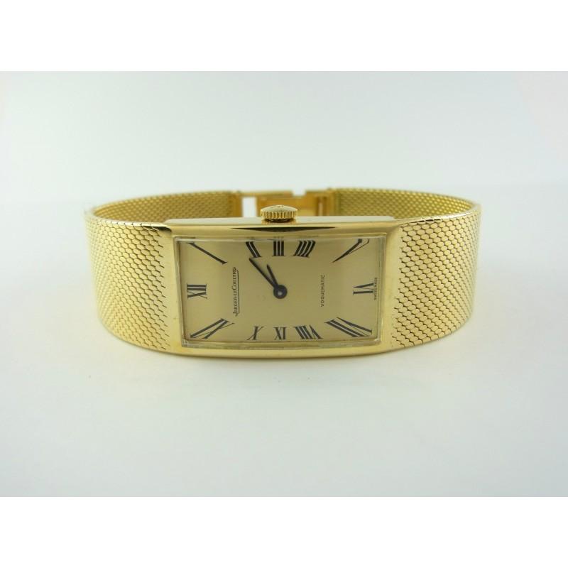 Jaeger LeCoultre Voguematic Damenuhr Automatik 18 kt Gelbgold Milanaise-Armband