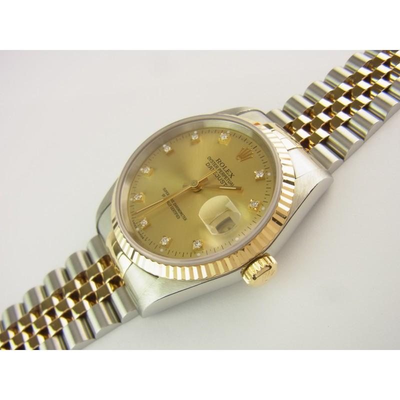 Rolex Datejust 36 mm Ref 16233 Stahl/Gold Diamant-Zifferblatt