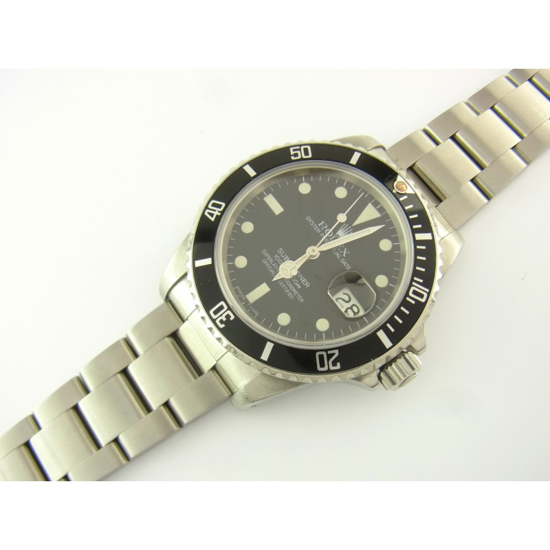 Rolex Submariner 16800 Bj 1983 Matt Dial mit Revision von 2016 unpoliert