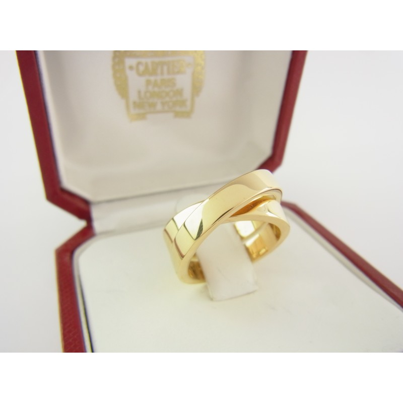 Cartier Nouvelle Vague Ring 750 Gelbgold 18 kt gold Gr. Size 51 Box & Zertifikat