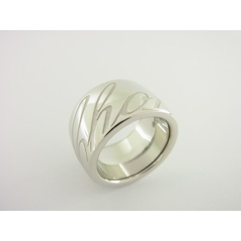 Chopard Ring Chopardissimo 750er Weißgold Größe 57-58