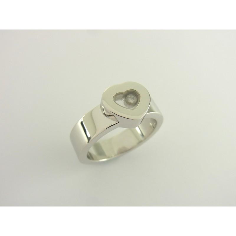 CHOPARD Happy Diamonds Heart Ring 18 kt Weißgold