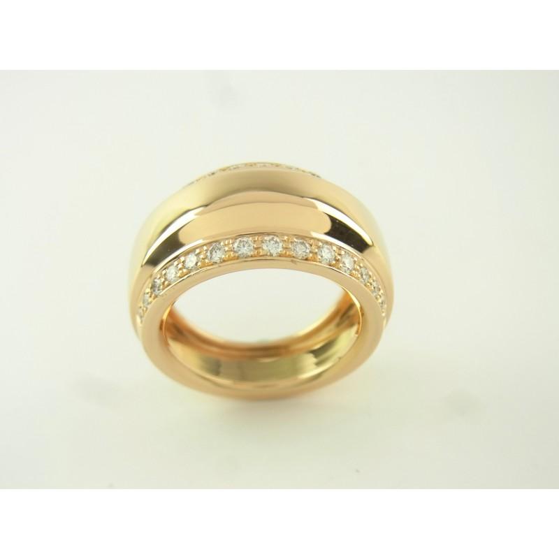 Chopard Ring La Strada 750er Gelbgold Diamanten Größe 55-56