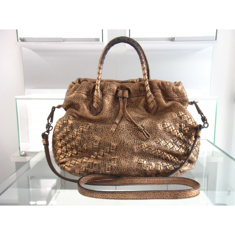 Bottega Veneta Tasche Leder Metallic Oro Scuro Nappa Leather bag