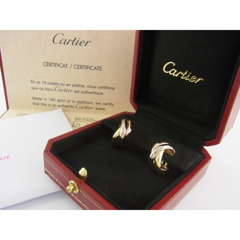 Cartier Trinity Ohrringe Medium 750er Gold mit Box und Papieren
