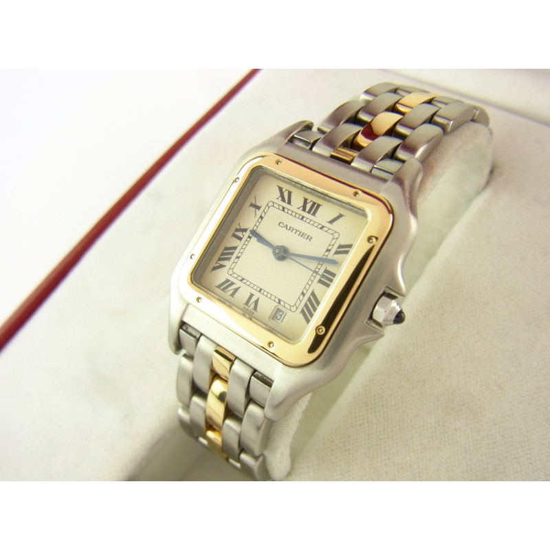 Cartier Panthere 187949 Medium 27 mm Quarz Stahl/Gold mit Box & Papiere