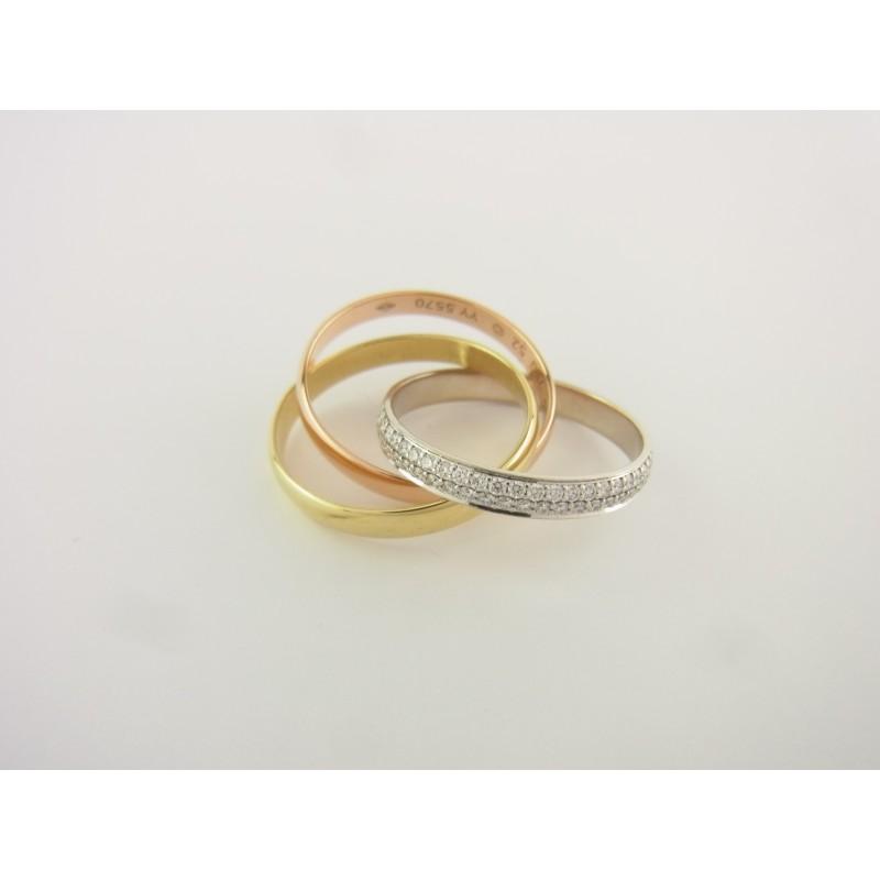 CARTIER Trinity Ring 18 kt Gold mit Diamanten