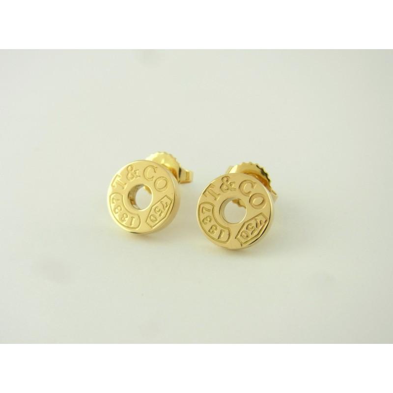"Tiffany & Co. 1837 Ohrringe Ohrstecker ""Circle"" 18 kt Gelbgold"