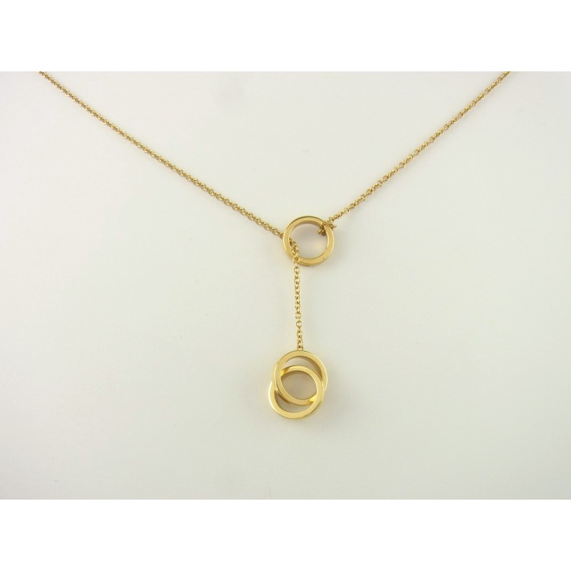 "Tiffany & Co. ""1837"" Y-Kette Collier 750er Gelbgold"