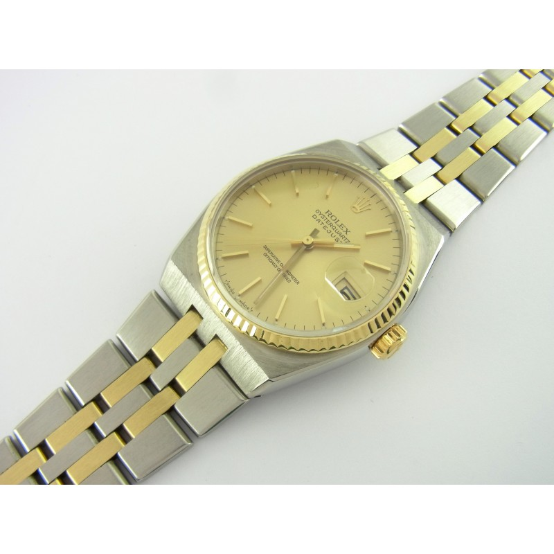 Rolex Oysterquartz Datejust Ref 17013 36 mm Quarz Edelstahl/Gold