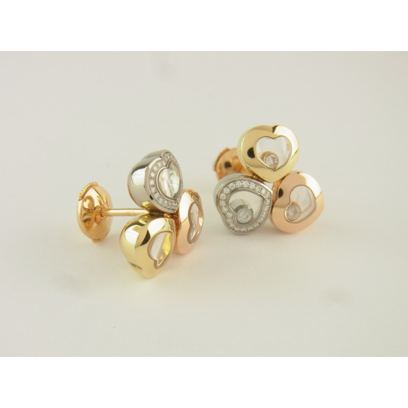 CHOPARD Happy Curves Ohrringe 18 kt Gold 50 Diamanten