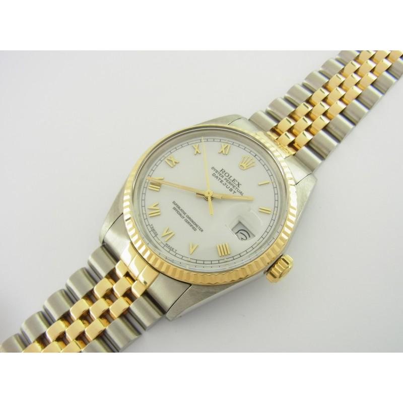 Rolex Datejust 36 mm Ref. 16013 Edelstahl/Gold Jubiléband