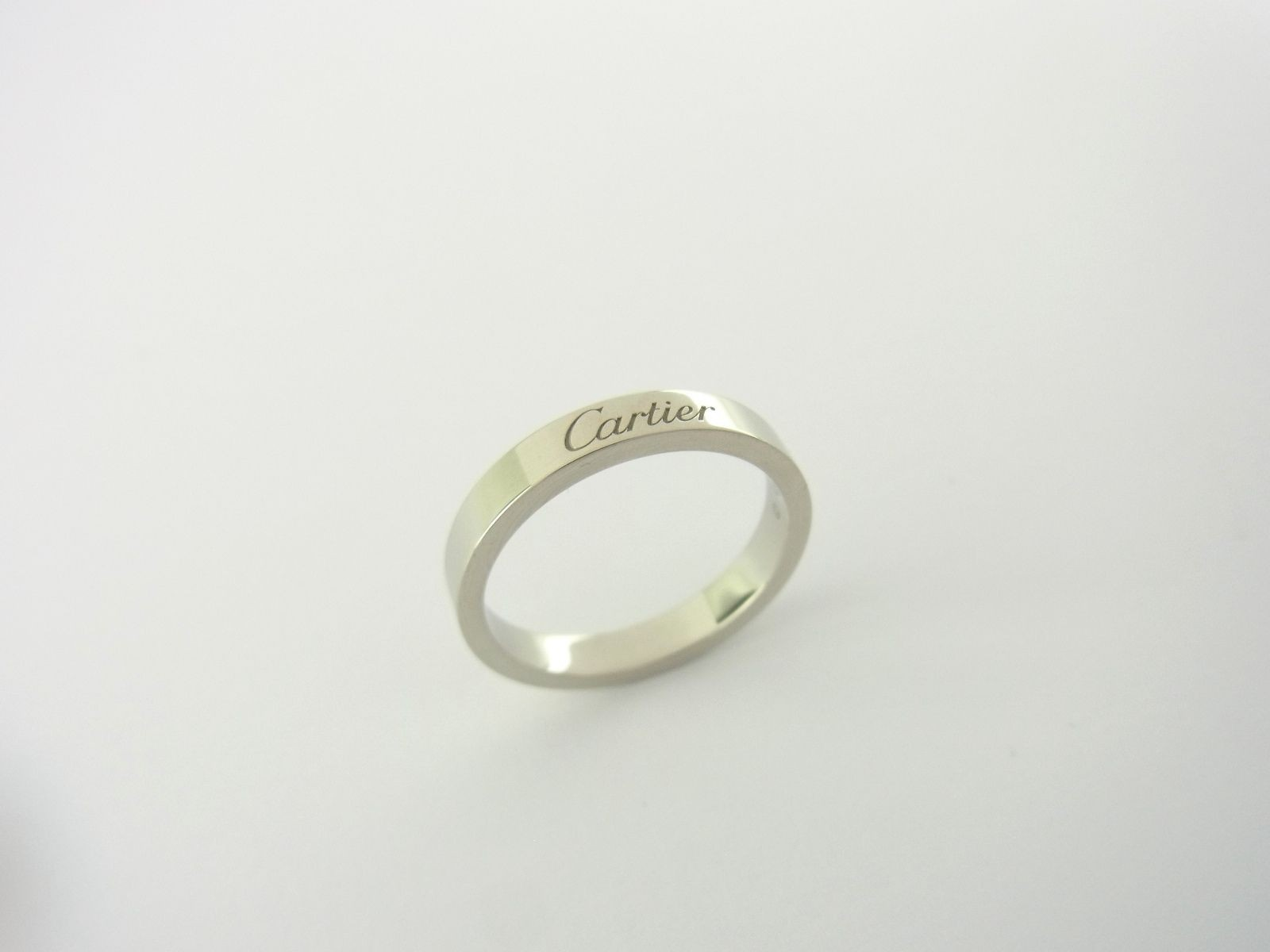 Cartier Ring Ehering Trauring 950er Platin Grosse Size 51 Luxini